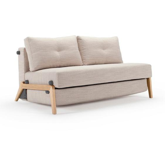 INNOVATION Schlafsofa, Sand, Stoff 140 cm