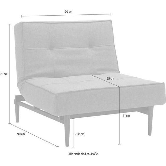 INNOVATION LIVING ™ Sessel »Splitback«, mit dunklen Styletto Beinen, in skandinavischen Design, grau, Webstoff fein FLASHTEX