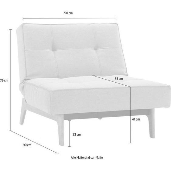 INNOVATION LIVING ™ Sessel »Splitback«, mit Eik Beine, in skandinavischen Design, blau, Struktur grob MIXED DANCE