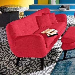 INOSIGN 2-Sitzer, rot, 137cm, strapazierfähig