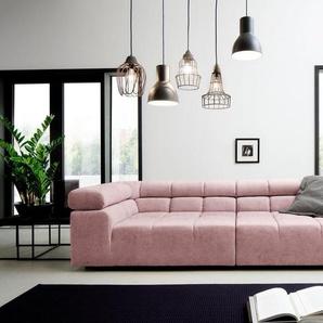 INOSIGN Big-Sofa »Ancona«, mit auffälliger Steppung, Kopfteilverstellung