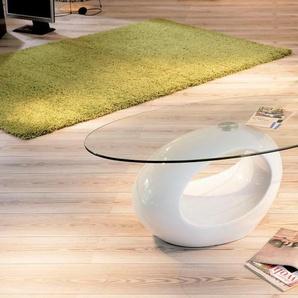INOSIGN Couchtisch Pucci, mit modernem Untergestell B/H/T: 110 cm x 40 60 weiß Couchtische Tische Möbel sofort lieferbar
