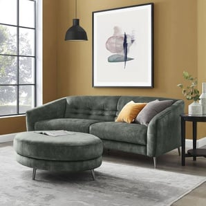 INOSIGN Hocker Auriol 0, Luxus-Microfaser grün Polsterhocker Sessel und Sofas Couches
