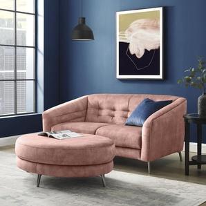 INOSIGN Hocker Auriol 0, Luxus-Microfaser rosa Polsterhocker Sessel und Sofas Couches