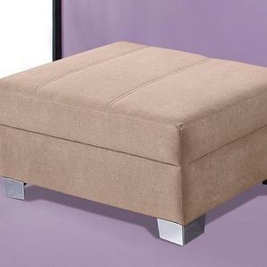 INOSIGN Hocker 0, Microfaser PRIMABELLE® beige Polsterhocker Nachhaltige Möbel