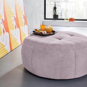 INOSIGN Hocker Lounis (Hockerprogramm V) 0, Chenille, Durchmesser 104 cm rosa Polsterhocker Nachhaltige Möbel