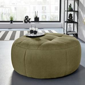 INOSIGN Hocker Lounis (Hockerprogramm V) 0, Soft clean, Durchmesser 104 cm grün Polsterhocker Nachhaltige Möbel