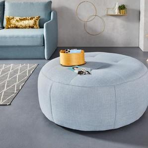 INOSIGN Hocker Lounis (Hockerprogramm V) 0, Struktur, Durchmesser 104 cm blau Polsterhocker Nachhaltige Möbel