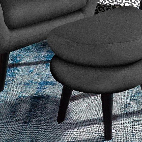 INOSIGN Hocker Luxus-Microfaser ALCAZAR grau Polsterhocker Nachhaltige Möbel