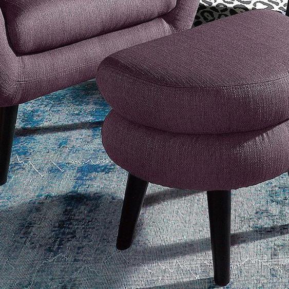 INOSIGN Hocker Struktur lila Polsterhocker Nachhaltige Möbel