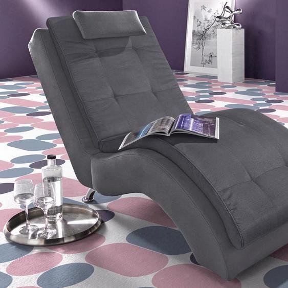 INOSIGN Relaxliege Luxus-Microfaser ALCAZAR, 70 cm grau Relaxliegen Sessel Sofas