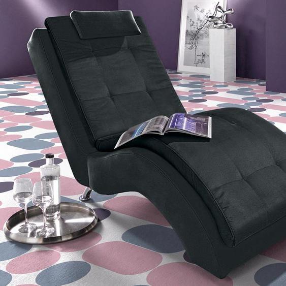 INOSIGN Relaxliege Luxus-Microfaser ALCAZAR, 70 cm schwarz Relaxliegen Sessel Sofas