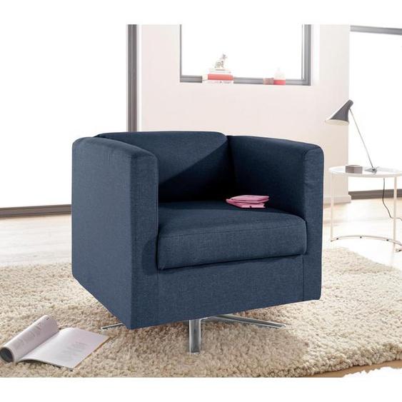 INOSIGN Sessel Bob Struktur fein blau Hocker SOFORT LIEFERBARE Möbel
