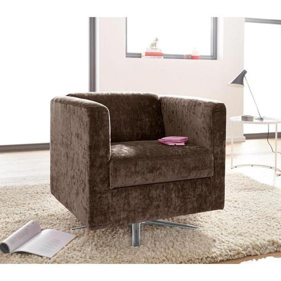 INOSIGN Sessel Bob Struktur grob braun Hocker SOFORT LIEFERBARE Möbel