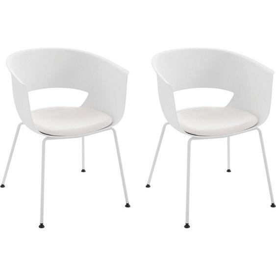 INOSIGN Stuhl »Flavus« (Set, 2 Stück), mit einem pflegeleichter Kunstleder Bezug und einem Holzgestell, Sitzhöhe 47 cm