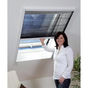 Insektenschutz-Plissee für Dachfenster schwarz 110 x 160 cm