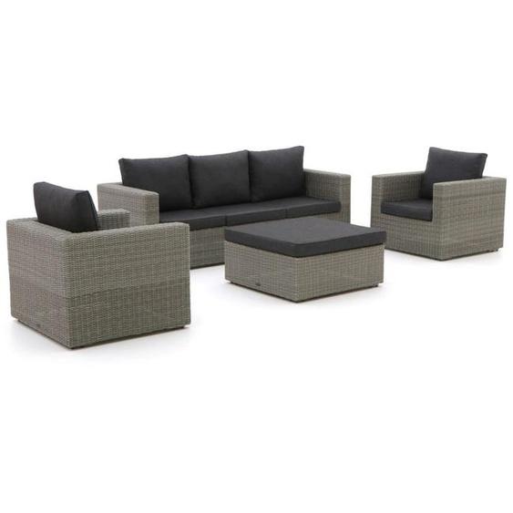 Intenso Carpino Sessel-Sofa Lounge-Set 4-teilig