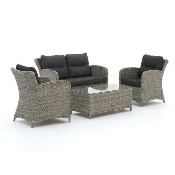 Intenso Leone/Milano Sessel-Sofa Lounge-Set 4-teilig