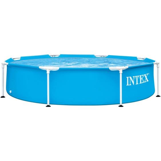 Intex Framepool, ØxH: 244x51 cm Ø/B/H/L: 244 x Breite Höhe 51 Länge, 1828 l blau Swimmingpools Pools Planschbecken Garten Balkon Framepool