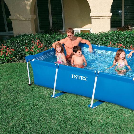 Intex Rechteckpool Metal Frame Rectangular, BxLxH: 150x220x60 cm B/H/L: Breite 150 x Höhe 60 Länge 220 cm, 1700 l blau Swimmingpools Pools Planschbecken Garten Balkon