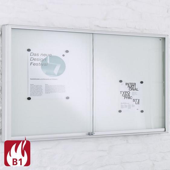 INTRO & MEDIA Brandschutz-Schaukasten mit Schiebet�ren b197xt5xh97cm