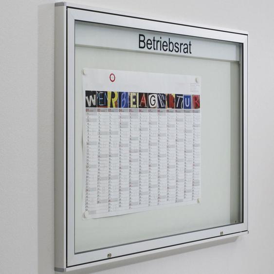 INTRO & MEDIA Schaukasten mit horizontaler Fl�gelt�r b137xt5,5xh101cm