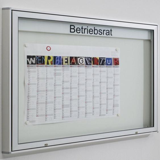 INTRO & MEDIA Schaukasten mit horizontaler Fl�gelt�r b200xt5,5xh101cm