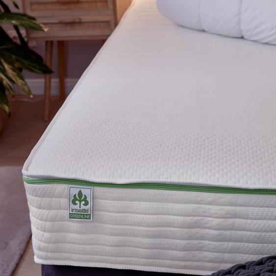 irisette® greenline-7-Zonen-Tonnentaschen-Federkernmatratze - Weiß -