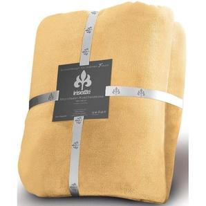 Irisette Wohndecke »Castel 8900«, 150x200 cm, pflegeleicht, trocknergeeignet, gelb, aus 100% Polyester
