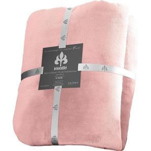 Irisette Wohndecke »Castel 8900«, 150x200 cm, pflegeleicht, trocknergeeignet, rosa, aus 100% Polyester