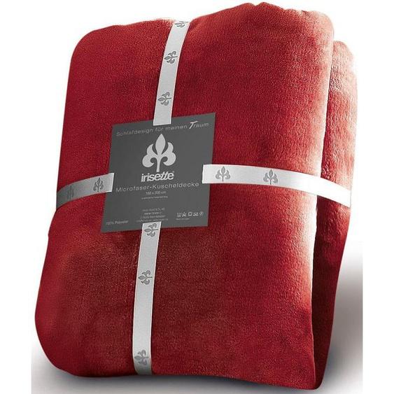 Irisette Wohndecke »Castel 8900«, 150x200 cm, pflegeleicht, trocknergeeignet, rot, aus 100% Polyester