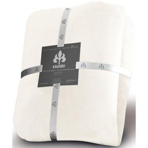 Irisette Wohndecke »Castel 8900«, 150x200 cm, pflegeleicht, trocknergeeignet, weiß, aus 100% Polyester