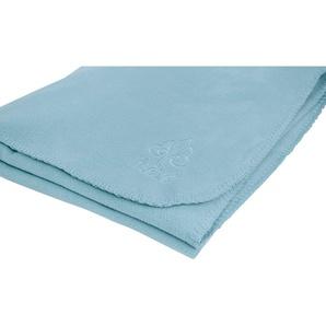 Irisette Wohndecke Via 8923, in weichen Unifarben B/L: 130 cm x 170 blau Fleecedecken Decken