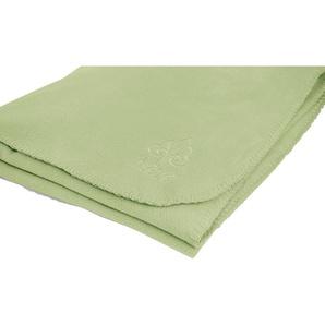 Irisette Wohndecke Via 8923, in weichen Unifarben B/L: 130 cm x 170 grün Fleecedecken Decken