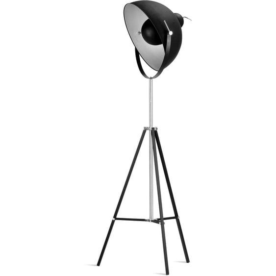 its About RoMi,Stehlampe Hollywood 1 -flg. / Ø35 cm, H:163 cm schwarz Standleuchten Stehleuchten Lampen Leuchten