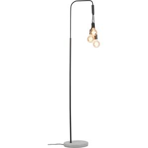 its About RoMi Stehlampe Oslo, E27 3 flg., Ø 48 cm Höhe: 190 schwarz Standleuchten Stehleuchten Lampen Leuchten