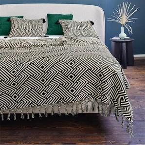 Jacquarddecke African Spirit - bunt - 100 % Baumwolle - Tagesdecken & Quilts - Überwürfe & Sofaüberwürfe