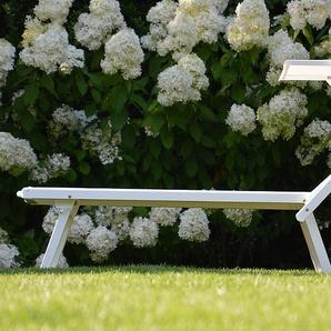 Jan Kurtz Möbel Sonnenliege mit Sonnendach Rimini weiß, 74x75 cm