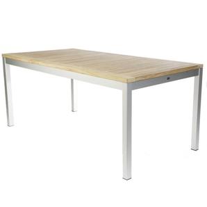 Jan Kurtz - Quadrat Tisch - 140x80 - Gestell natur - Teak - outdoor