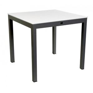 Jan Kurtz - Quadrat Tisch - 60x90 - Gestell schwarz  - HPL weiß