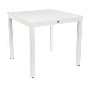 Jan Kurtz - Quadrat Tisch - 80x80 - Gestell natur  - HPL weiß - outdoor