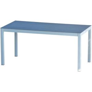 Jan Kurtz - Quadrat Tisch Keramik - Gestell schwarz - 90 x 60 - grau - outdoor