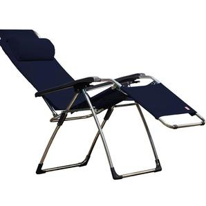 Jan Kurtz - Relaxliege AMIDA XXL, Cadre: Aluminium, Bezug:Kunststoffgew.dklblau, Accoudoirsn: Kunststoff - outdoor