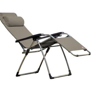 Jan Kurtz - Relaxliege AMIDA XXL, Cadre: Aluminium, Bezug:Kunststoffgew.salbei, Accoudoirsn: Kunststoff - outdoor