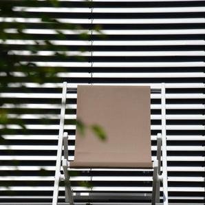 Jan Kurtz - Rimini Liegestuhl - Gestell weiß - taupe - outdoor