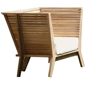 Jan Kurtz - Sessel WILLIAM, Teak, 83/28 x 95/60 x 69/52 cm,incl.Sitzkissen,100 %  Polyacryl,weiß,RV,montiert - outdoor