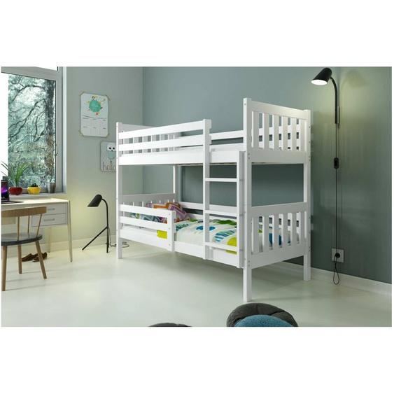 Jan ohne Schublade Etagenbett Weiß
