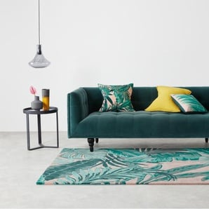 Jangala Teppich (160 x 230 cm), Rosa und Blaugruen
