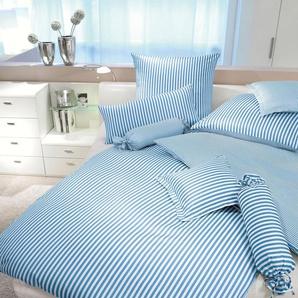 Janine Wendebettwäsche »Modernclassic«, 135x200 cm, blau, aus 100% Baumwolle