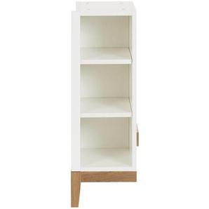 Jimmylee: Regal, Holzwerkstoff,Eiche, Eiche, Weiß, B/H/T 27,6 82 37
